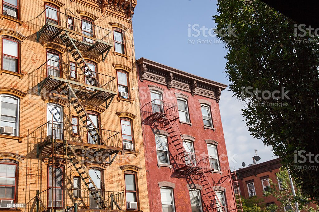 New York Fire Escape stock photo