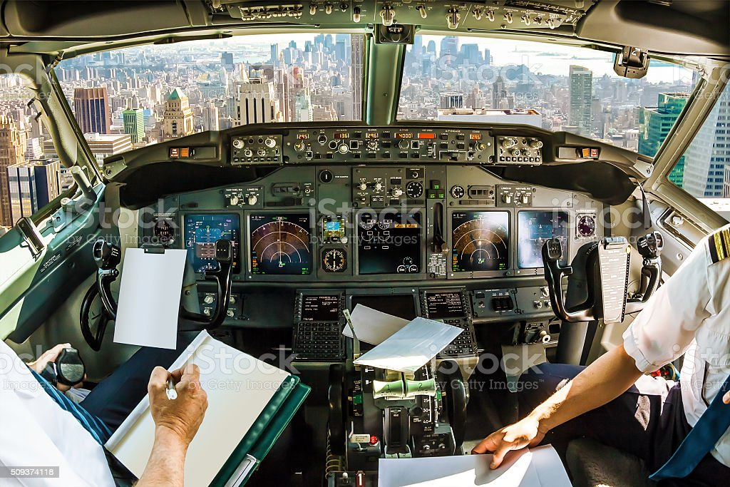 New York flight stock photo