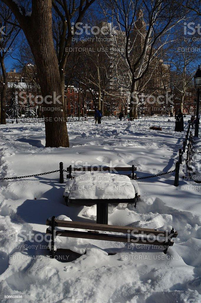 New York following snow storm stock photo