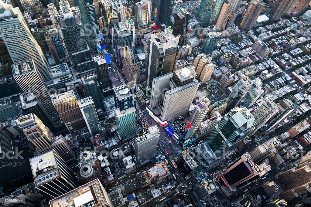 New York from above stock photo