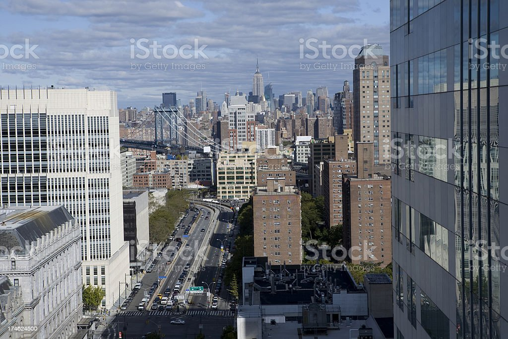New York from Brooklyn royalty-free stock photo