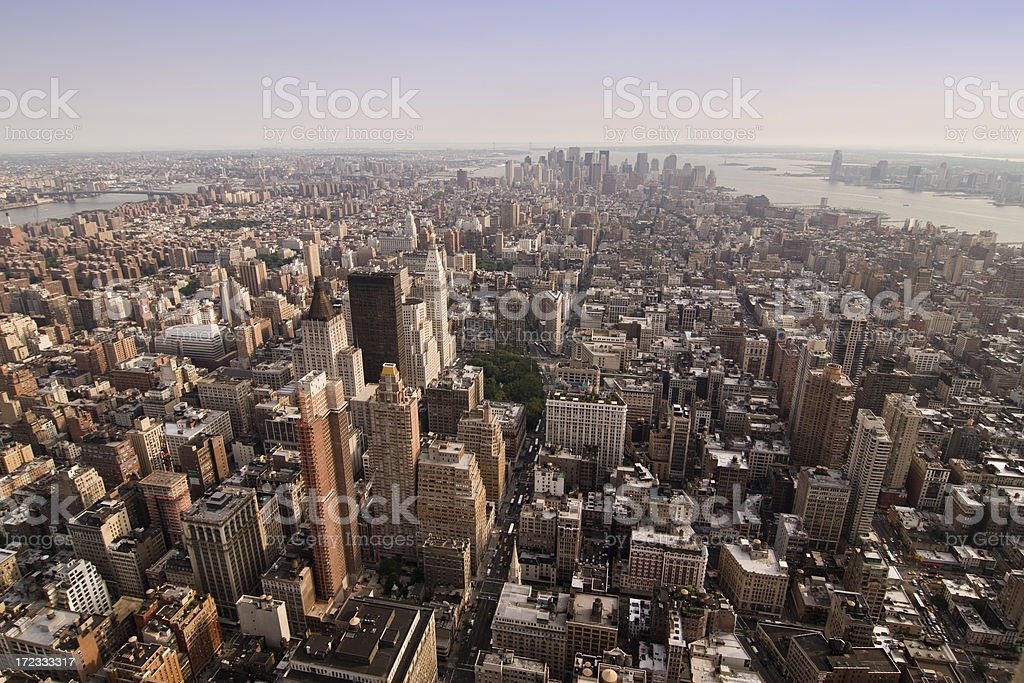 New York from the Empire State royalty-free stock photo