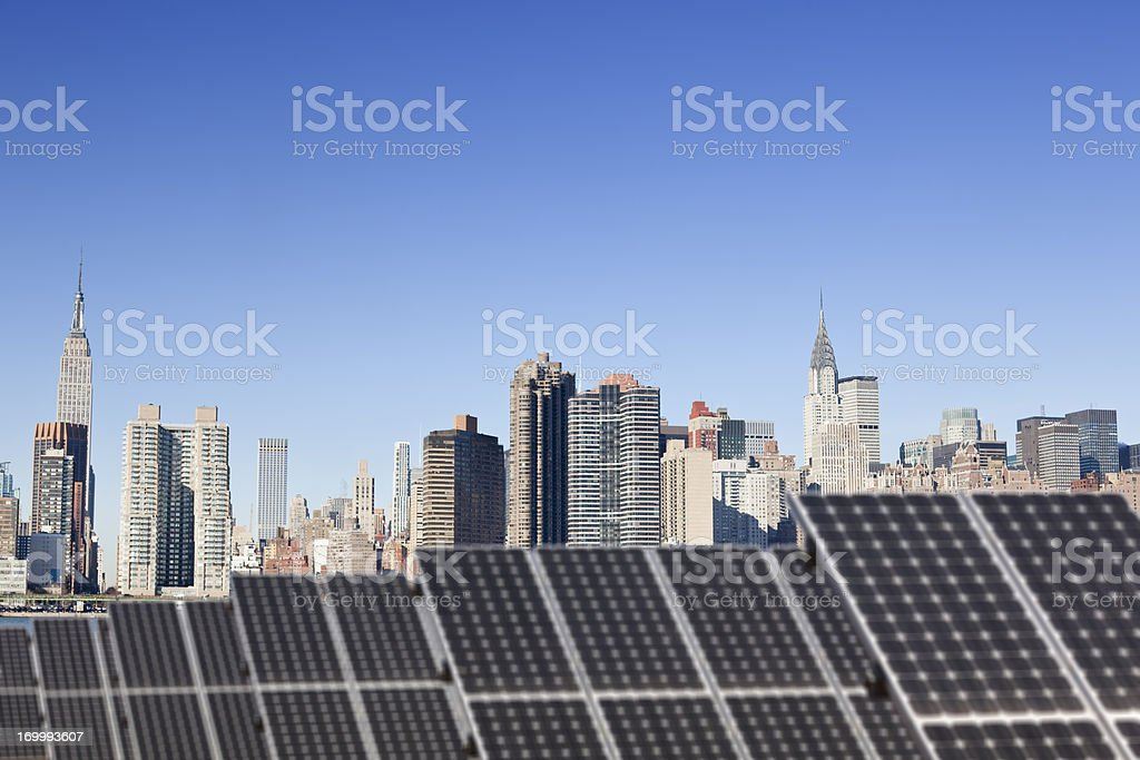 New York goes green stock photo