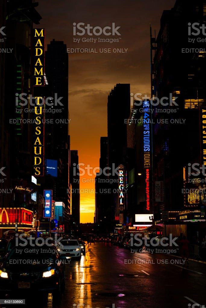 New York Gold stock photo