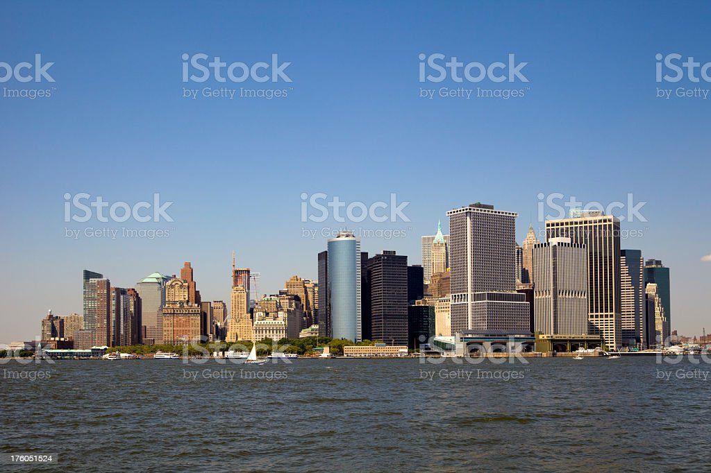 New York Harbor From Governor's Island royalty-free stock photo