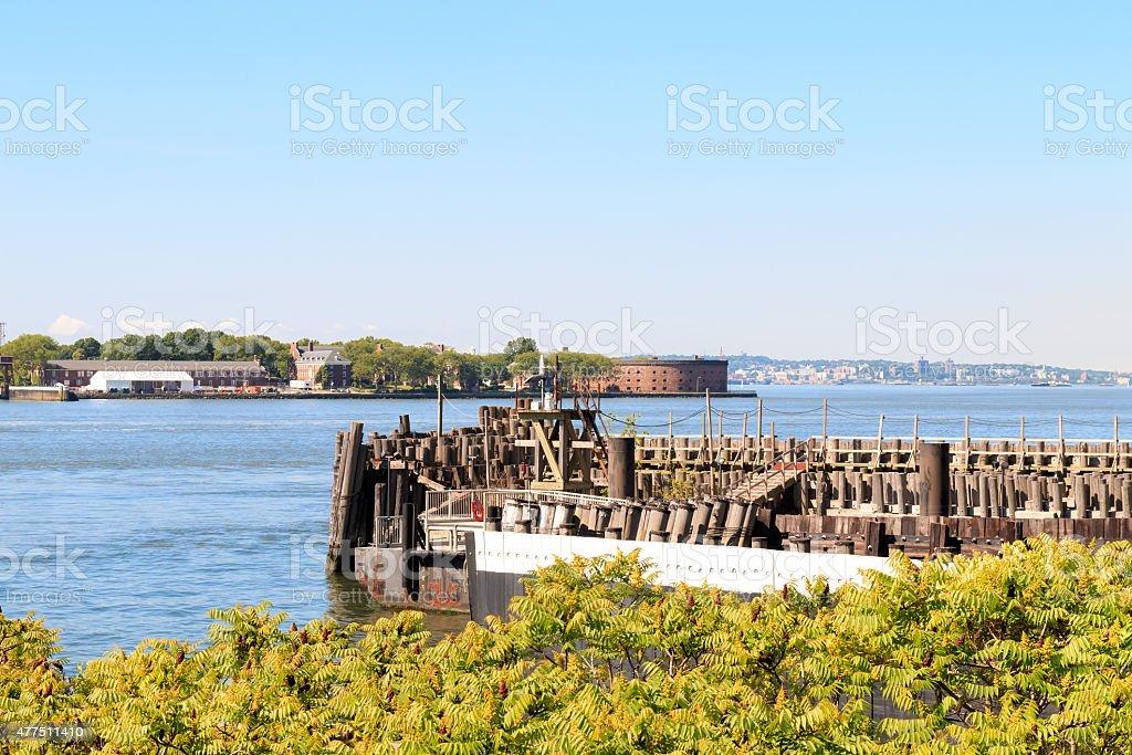 New York Harbor & Governors Island stock photo