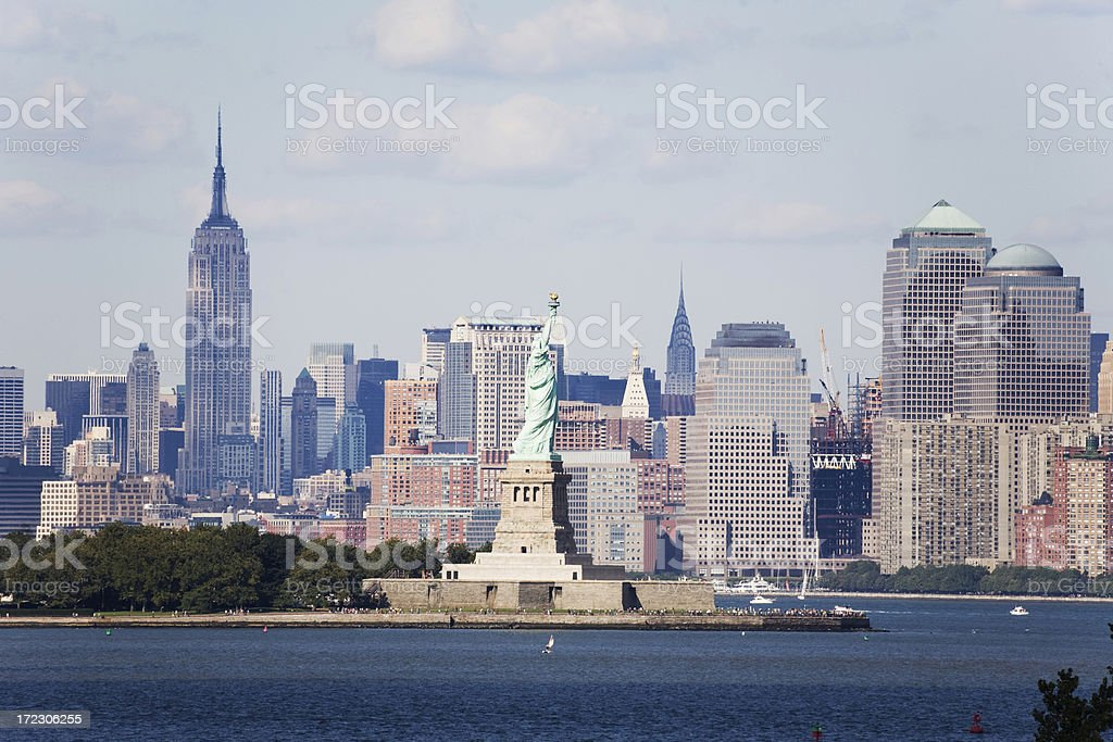 New York Harbor Skyline royalty-free stock photo