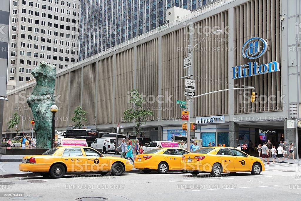 New York Hilton stock photo