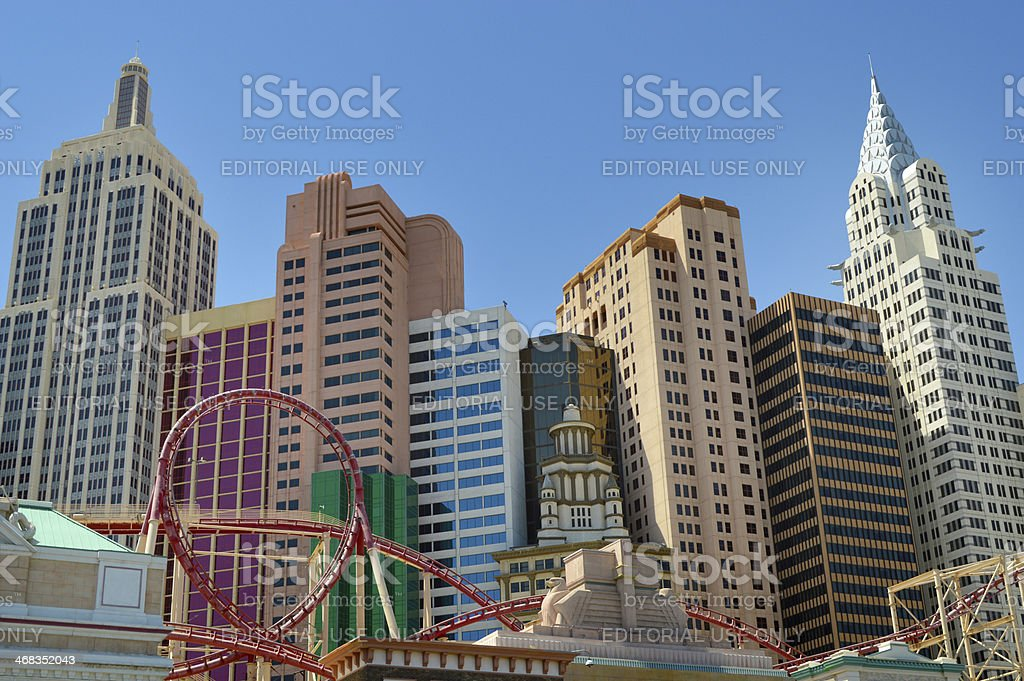 New York Hotel and Casino In Las Vegas royalty-free stock photo