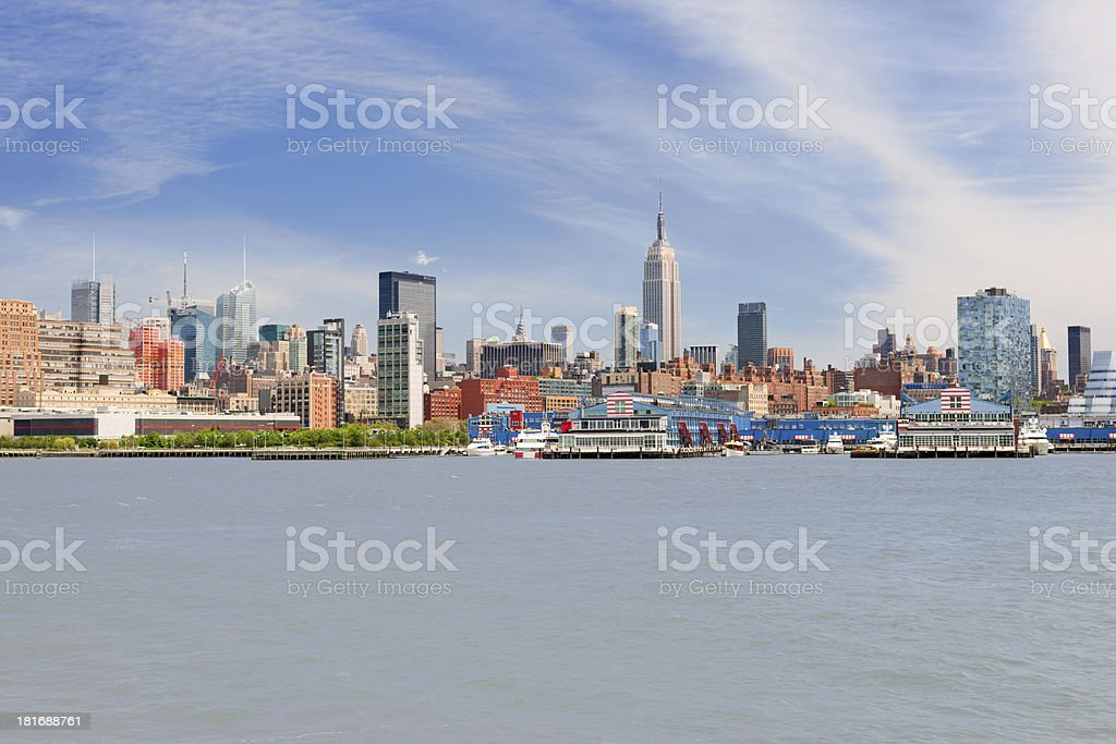 New York in a summer day royalty-free stock photo