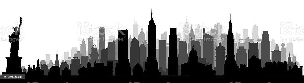 New York, Isolated on White stock photo