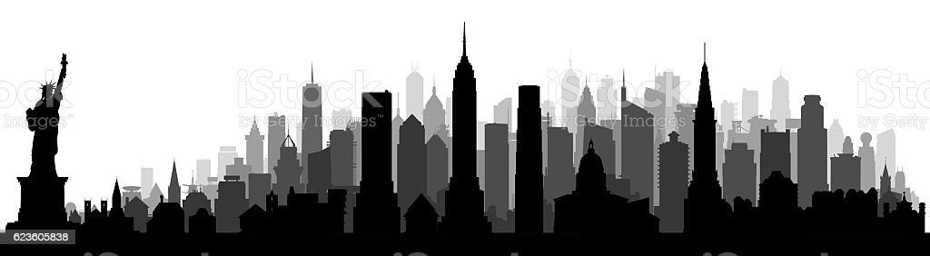 New York, Isolated on White stock photo