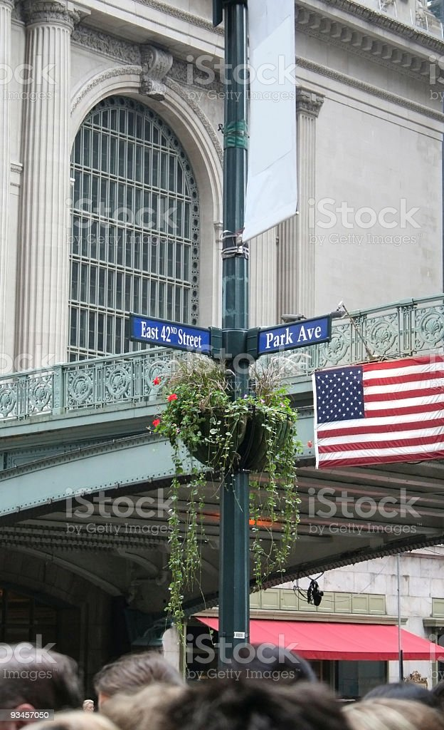 New York Junction E.42nd St and Park Ave Poster copyspace royalty-free stock photo
