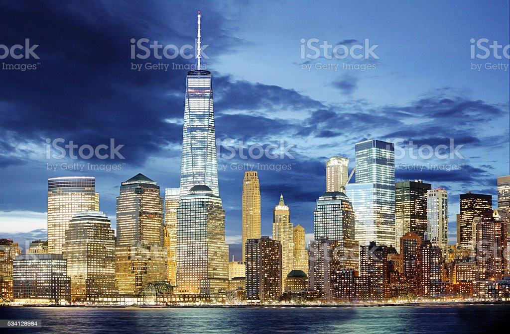 New York, Lower Manhattan skyline, United states of America stock photo