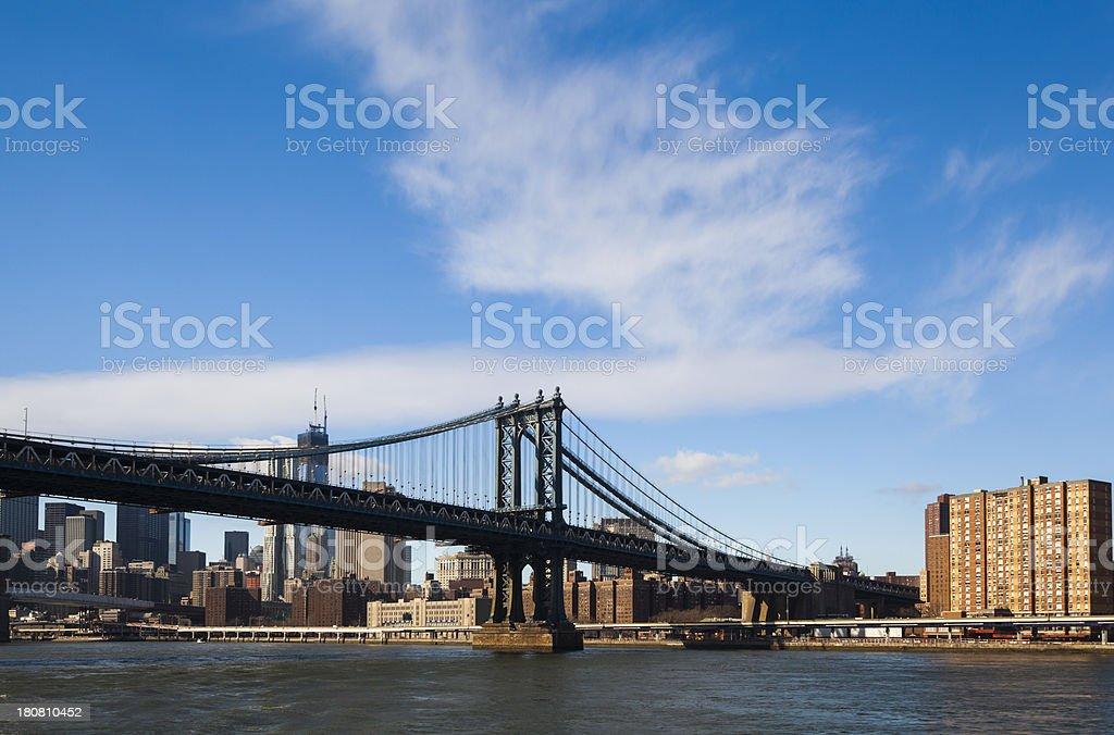 New York Manhattan Bridge East River royalty-free stock photo