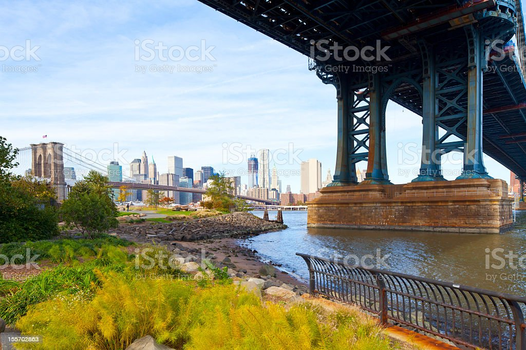 New York, Manhattan Bridge royalty-free stock photo