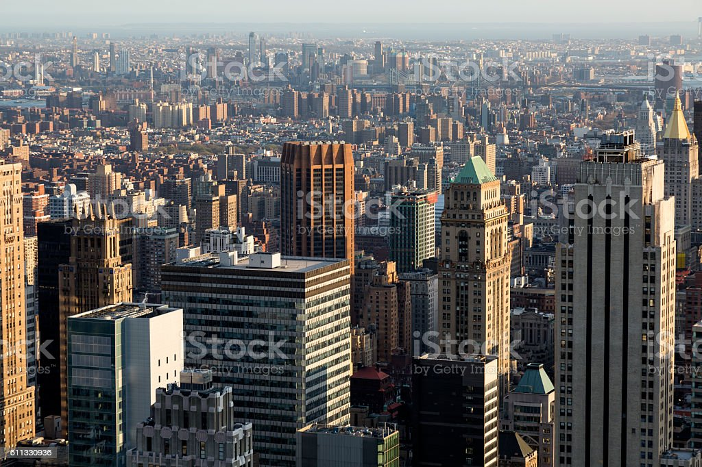 New York, Manhattan, Elevated View stock photo