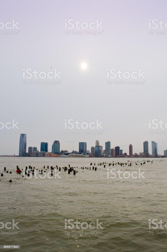 New York, Manhattan. Hudson Bay. stock photo