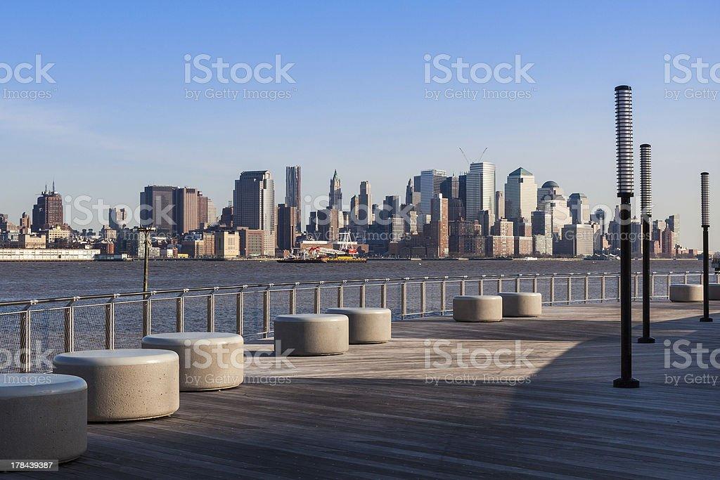 New York - Manhattan skyline  view from Hoboken waterfront stock photo