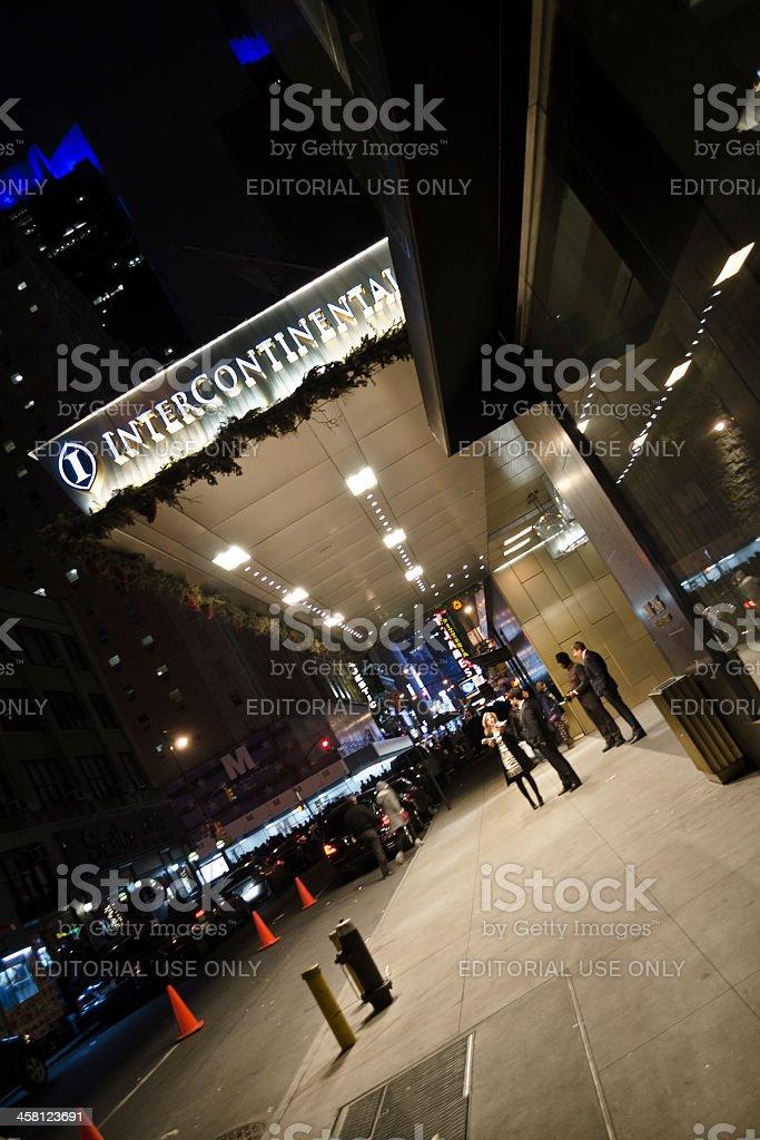 New York, Manhattan, Time Square, Intercontinental Hotel stock photo