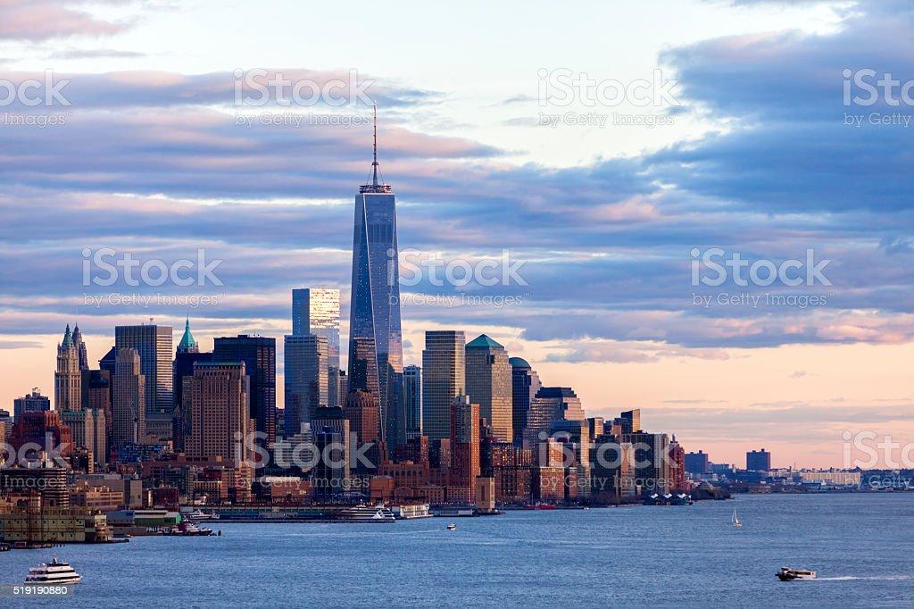 New York, Manhattan, View Over Hudson River stock photo
