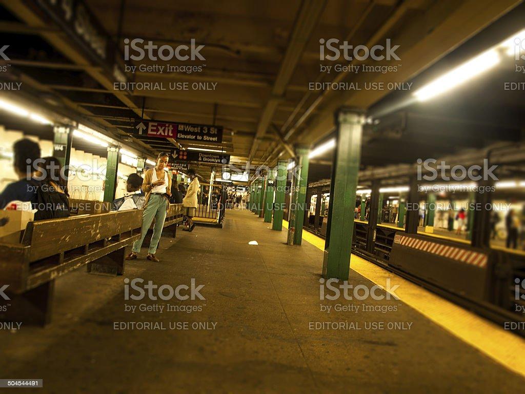 La Station de métro de New York photo libre de droits