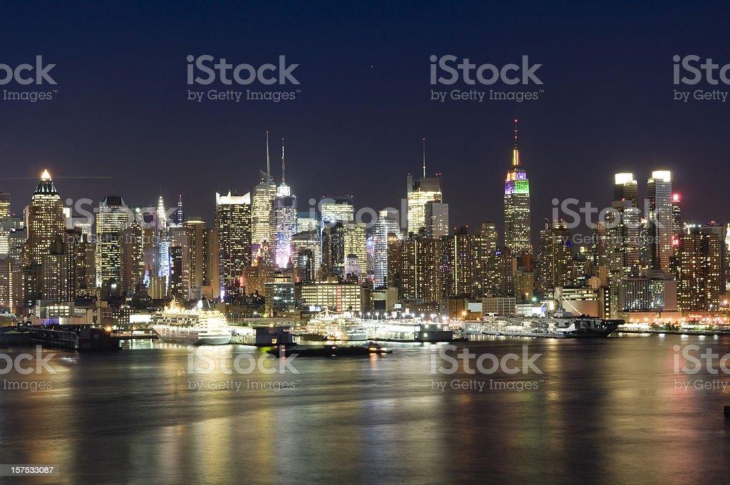 New York - Midtown Manhattan at Twilight royalty-free stock photo