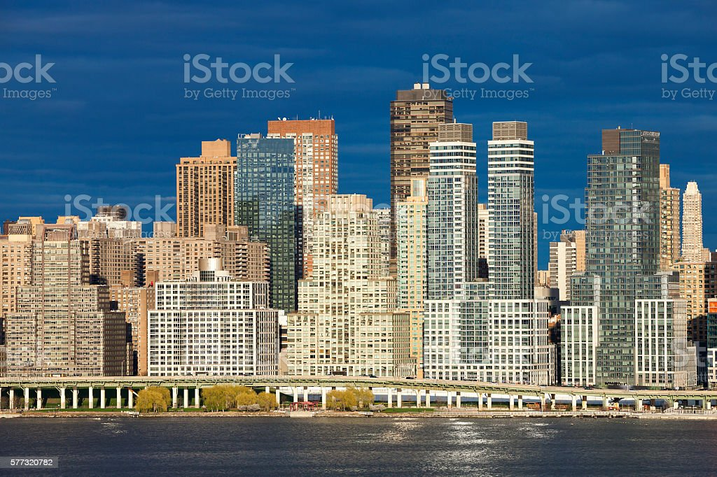 New York, Midtown Manhattan, Riverside Boulvard, Riverside Drive stock photo