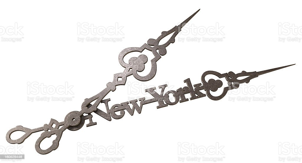 New York Minute Clock Hands Isolated royalty-free stock photo