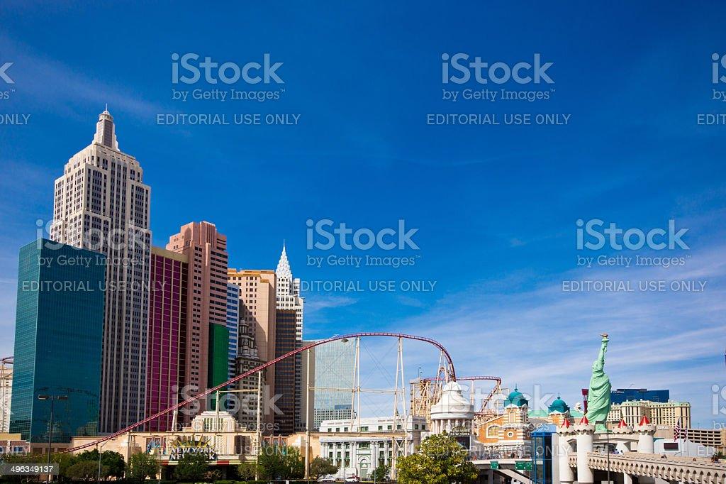 New York New York Hotel stock photo