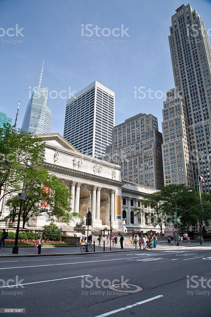 USA - New York - New York, Public Library stock photo