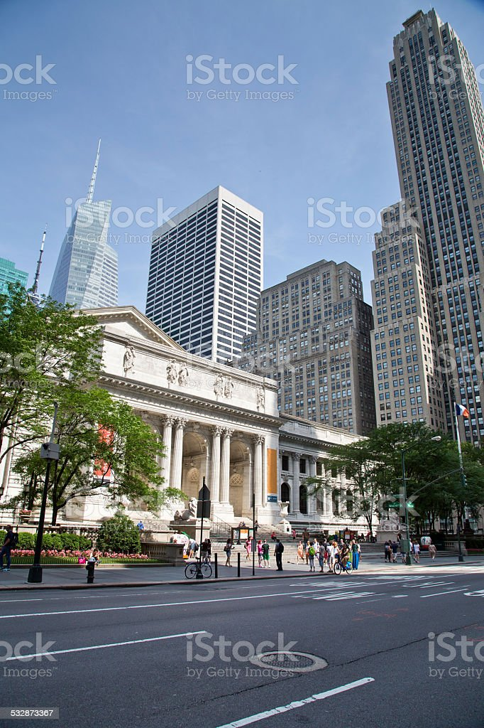 USA - New York - New York, Public Library stock photo