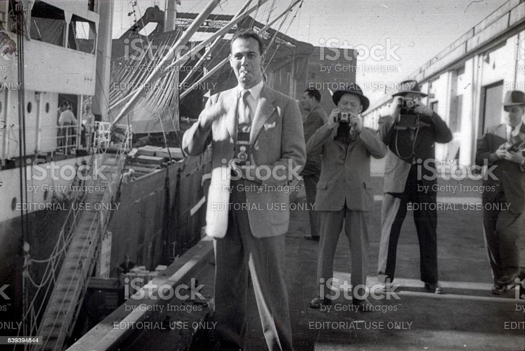New York, newspaper photographers, 1951 stock photo