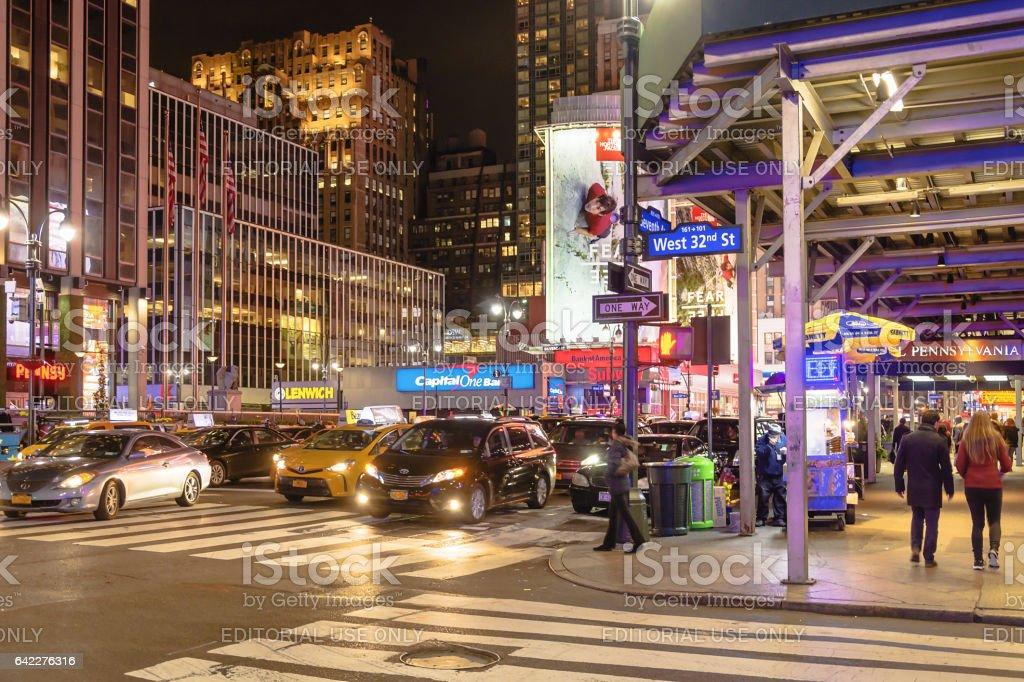 New York night scene stock photo