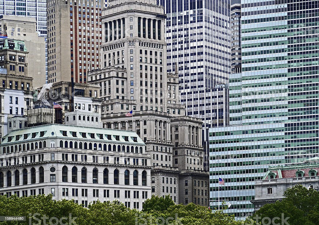 New York office buildings royalty-free stock photo