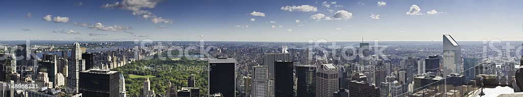 New York panoramic vista royalty-free stock photo