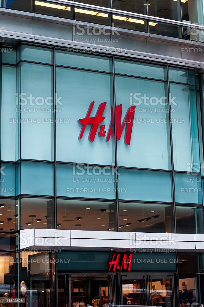 H&M New York royalty-free stock photo