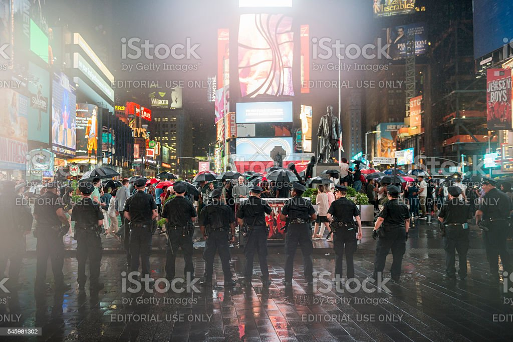 New York Police at Black Lives Matter protest stock photo
