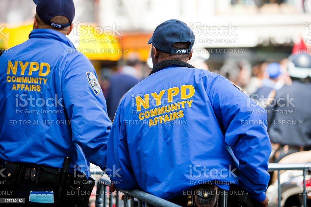 New York Police Community Affairs, USA stock photo