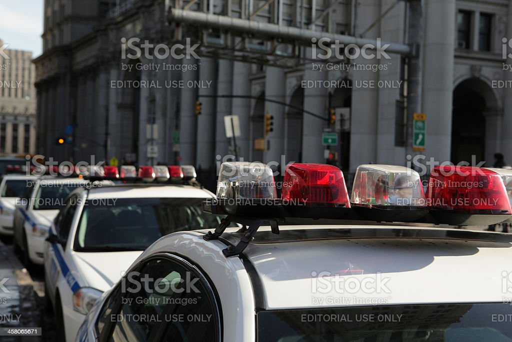 New York Police Department cruisers royalty-free stock photo