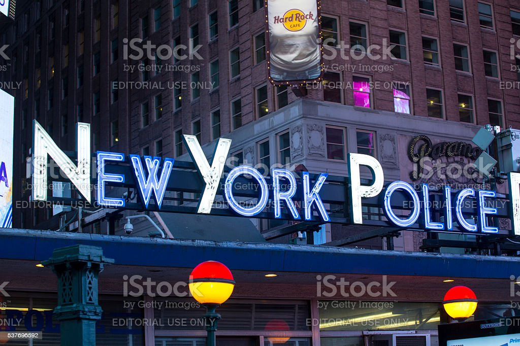 New York Police sign stock photo