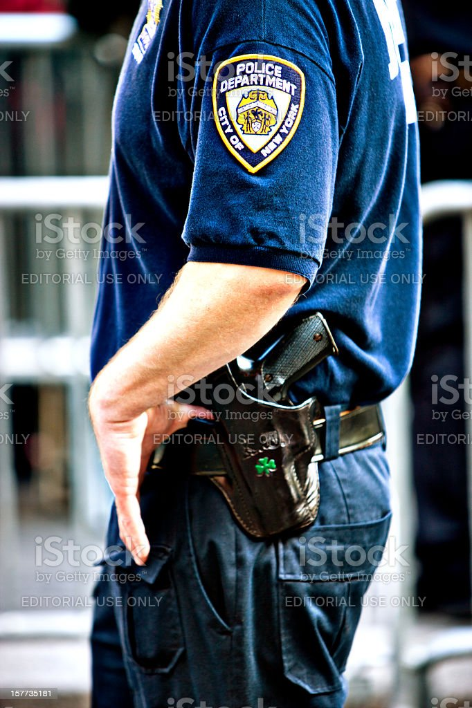 New York Policeman royalty-free stock photo