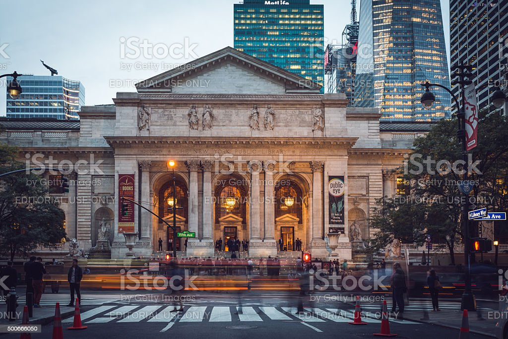 New York public libary stock photo