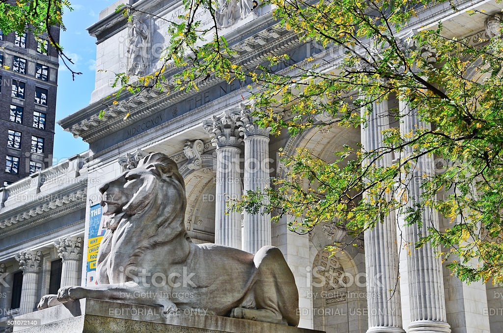 New York Public Library in New York City stock photo