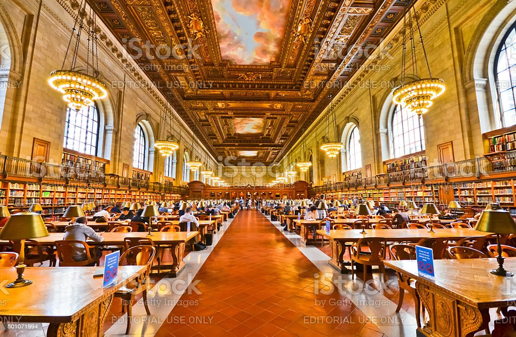 New York Public Library in New York stock photo