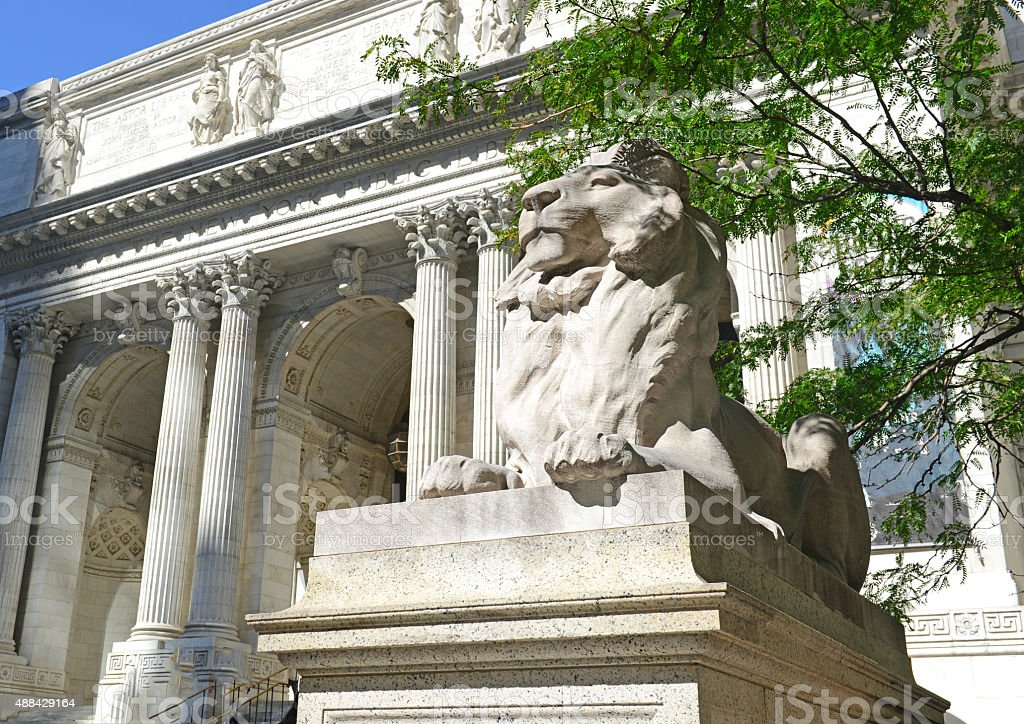 New York Public Library on Fifth Avenue, Manhattan stock photo