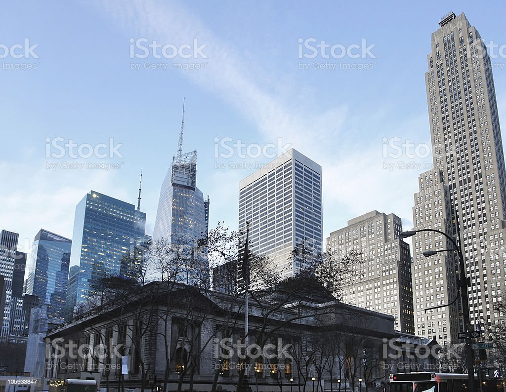 New York Public Library royalty-free stock photo