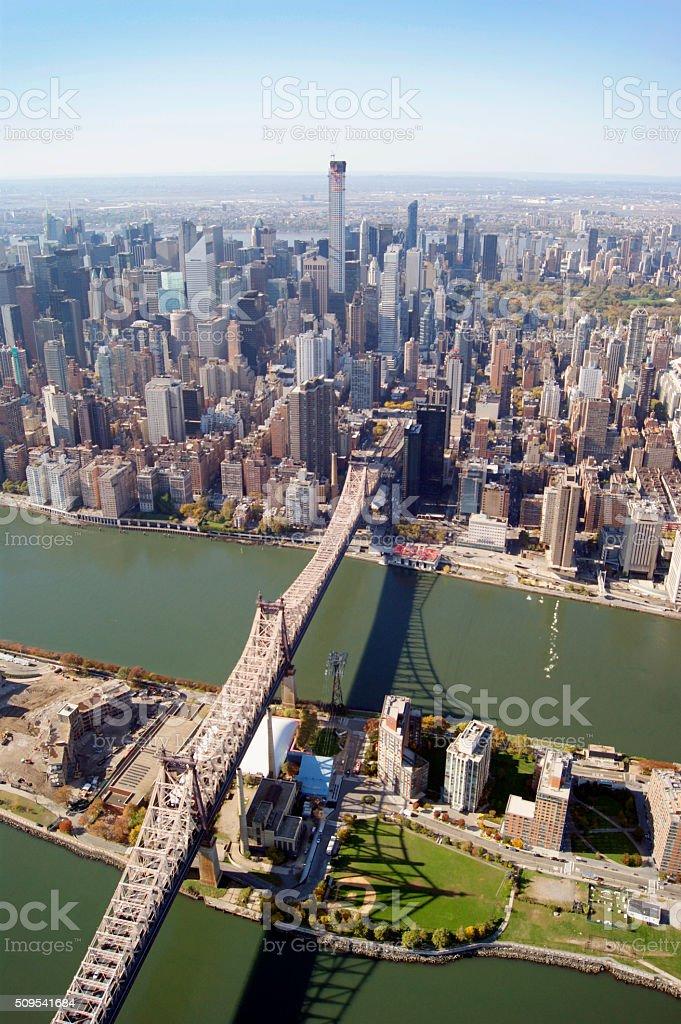 New York Queensboro Bridge stock photo