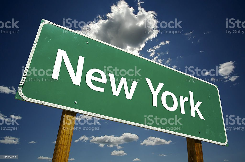 New York Road Sign royalty-free stock photo