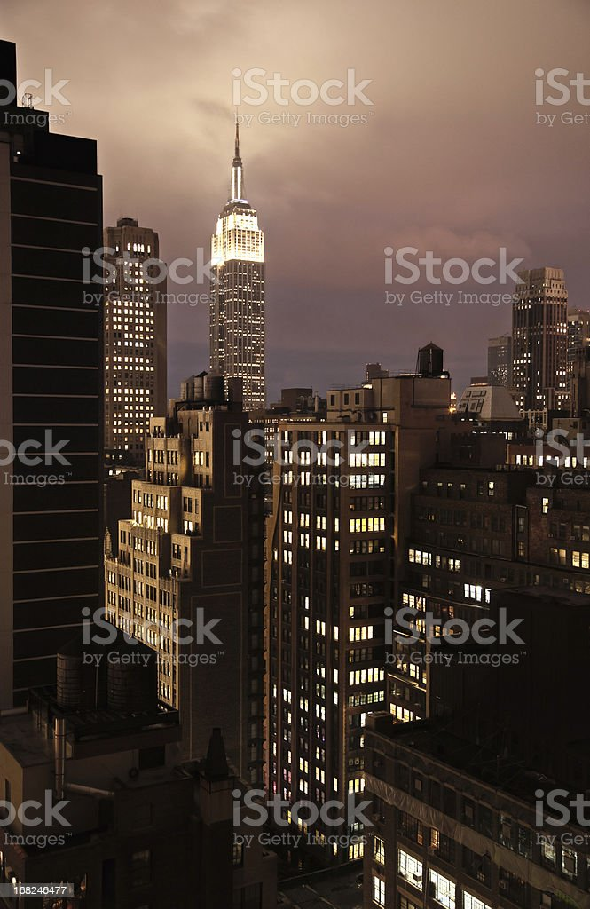 New York Roof Tops at night royalty-free stock photo